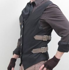 Fashion & Style: More guys should wear stuff like this.original mens fashion Men's Fashion & Style: More guys should wear stuff like this.original mens fashionMen's Fashion & Style: More guys should wear stuff like this. Moda Steampunk, Steampunk Couture, Steampunk Clothing, Steampunk Fashion Men, Steampunk Outfits, Mens Steampunk Vest, Mode Masculine, Simple Shirts, Character Outfits