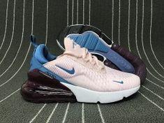 Women&Apos;S Nike Air Max 270 Shoes AH6789 700 White Blue