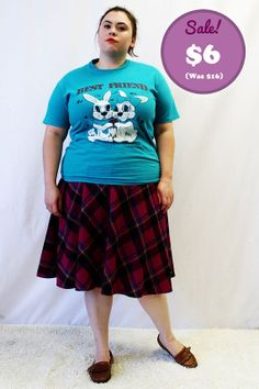 CLEARANCE  Plus Size  Vintage TShirt Turquoise by TheCurvyElle, $6.00