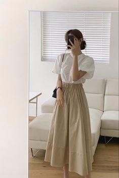 Korean Girl Fashion, Korean Fashion Trends, Ulzzang Fashion, Korean Street Fashion, Kpop Fashion Outfits, Mode Outfits, Skirt Outfits, Modest Fashion, Korean Fashion Summer
