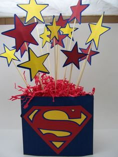 Centerpiece Idea – use WordGirl logo instead of Superman's