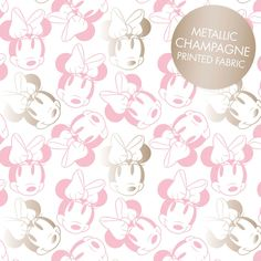 Pink Metallic Minnie Mouse Face Outline from the Minnie Mouse Metallic Collection by Camelot Fabrics by CurlyGirlFabric on Etsy https://www.etsy.com/listing/500452103/pink-metallic-minnie-mouse-face-outline