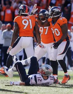 Robert Ayers sacks Brady & this pic sums up Brady's day!  AFC Champion Denver Broncos!