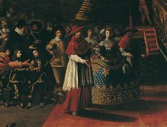 Infanta Maria of Austria embarking ships in Naples.(1649) by Micco The painting was done some decades after the actual event took Place (1630)