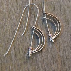 Orbit earrings argentium silver jewelry with by TCMjewelryDesigns