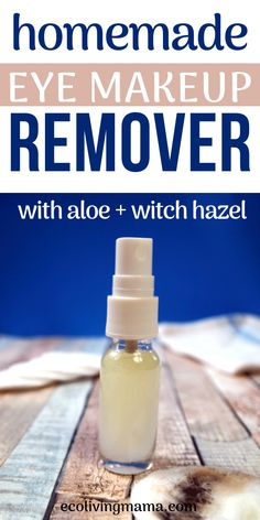 The Best DIY Eye Makeup Remover (Easy Natural Beauty DIY) - - This is the best and easiest DIY eye makeup remover recipe out there, with just a few natural ingredients (and no coconut oil). Zero waste options available. Natural Eyes, Natural Eye Makeup, Natural Skin Care, Natural Beauty, Homemade Skin Care, Homemade Beauty Products, Diy Skin Care, Diy Products, Diy Makeup Remover