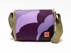 Esta - retro canvas saddlebag upcycled with original vintage fabric. - pinned by pin4etsy.com