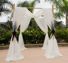 Natural Bamboo Wedding Arch 8\' x 7\' x 7\' http://www.sunsetbamboo ...