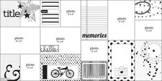 Challenge myself to only use black and white journal cards and allow the photos to be the only color on a layout