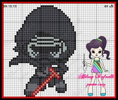 Kylo Ren - Star Wars:The Force Awakens pattern by Aldray Ferreira