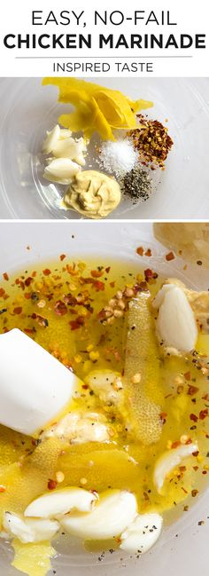 Easy, No-Fail Chicken Marinade Recipe with lemon, garlic and mustard -- So GOOD! | inspiredtaste.net @inspiredtaste #chicken