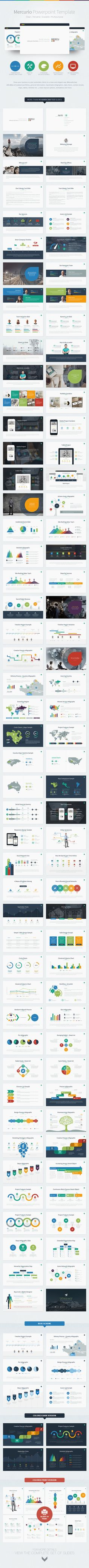 Mercurio PowerPoint Presentation Template on Behance