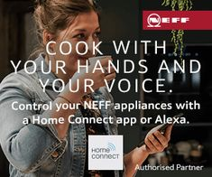 Nothing should come between you and your bake! With NEFF's unique Slide&Hide® oven and Home Connect you can turn the oven on from anywhere on your mobile. Discover more at Cambridge, Kitchen Ideas, Connection, Oven, Unique, Ovens