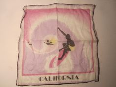Surfing California Handkerchief Vintage.  Very by BigAlsKollects, $88.00