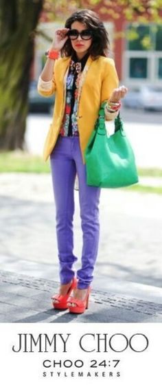 Very colourful but still everything matching :-D