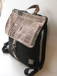 black backpack city bag secure backpack black by LIGONaccessories, $99.00
