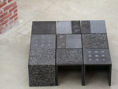"""Tavolino cubico da salotto """"Sabbie del Vesuvio"""" / Side Table in Lapilli Stone / Table basse en pierre lapilli  #Maison #Home #Deco #Handmade #Decoration #Emblema #Opificio"""