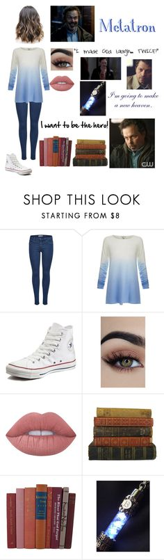 """Metatron"" by ohno-i-fell ❤ liked on Polyvore featuring Joie, Converse and Lime Crime"