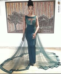 Dinner Gowns ClassyThanks nerttlbartosch for this post. African Bridal Dress, African Wedding Attire, African Prom Dresses, Latest African Fashion Dresses, African Print Fashion, African Attire, Dinner Gowns, Evening Gowns, Classy Gowns