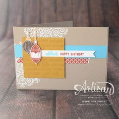 Papercraft by Jennifer Frost: Thoughtful Moroccan Nights, Stampin' Up! Artisan…