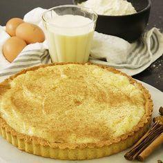 milk tart, how to make milk tart, milk tart recipe, Custard Recipes, Tart Recipes, My Recipes, Sweet Recipes, Baking Recipes, Dessert Recipes, Recipies, Favorite Recipes, Cold Desserts