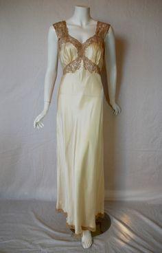 Gorgeous 1940s new old Stock Fischer Silk Nightgown