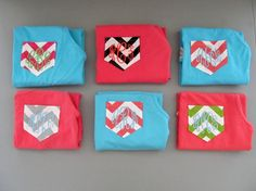 Monogrammed Tank Top Chevron Pocket COMFORT COLOR Brand Cotton Personalized Tank. $25.00, via Etsy.