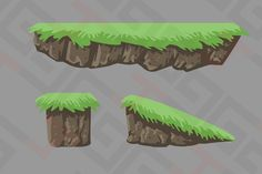 Check out Platform with grass by Graphics4Games on Creative Market