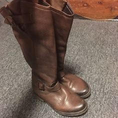 Brown Sz 8 Steve Madden Ryder Boots Fits True to Size Steve Madden Shoes Combat & Moto Boots