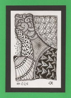 Layers 024  Original Numbered  Ink Drawing by TicTacTangle on Etsy, $4.00