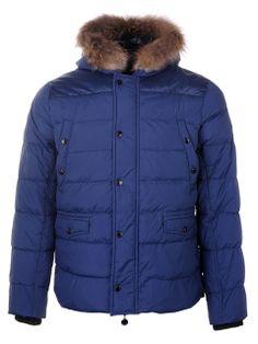 2013 New Mens Moncler Hooded Down Jacket Blue Men Down Jacket $349.00