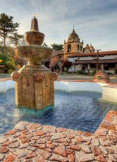 Carmel Mission courtyard........... many hours were spent playing in this peaceful courtyard