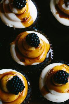 Chocolate Blackberry Cupcake // Notwithoutsalt.com