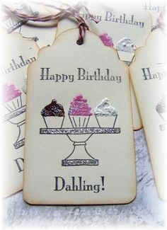 A personal favorite from my Etsy shop https://www.etsy.com/listing/100596018/happy-birthday-dahling-tags-6