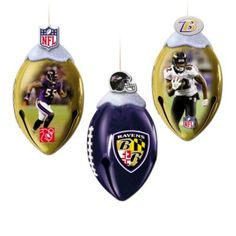 NFL Baltimore Ravens FootBells Ornament Collection