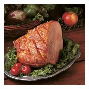 This old-fashioned sugar glaze gives your ham a pretty, golden-brown coating just like Grandma used to make. The mustard and vinegar complement the brown sugar and add tangy flavor. Be prepared to serve seconds! —Carol Strong Battle Heathville, Virginia
