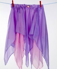 Make a fairy skirt for the girls using silk scarves