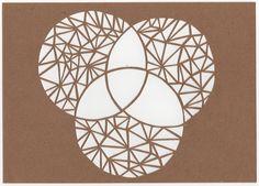 Three Circles Papercut