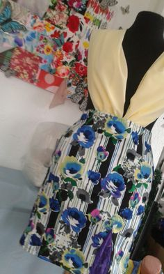 Floral skirt-easy project for Sewing-Delydey design fashion