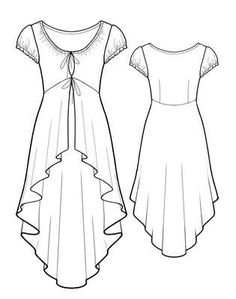 5772 PDF Sewing Pattern for Tunic, Personalized for Custom Size, Women Clothing