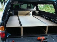 Truck bed ideas hey look another sleeping platform expedition portal truck camping hacks bed ideas camper truck bed camper ideas Truck Bed Camping, Jeep Camping, Camping Hacks, Camping Ideas, Pickup Camping, Camping Hammock, Camping Solo, Tailgate Tent, Minivan Camping