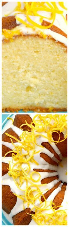 Lemon Cream Cheese Pound Cake ~ Deliciously tender and moist with just the right amount of lemon flavoring. Topped with a lovely lemon glaze!