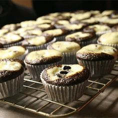 """Grandma Gudgel's Black Bottom Cupcakes   """"I made these for my friends birthday and they disappeared immediately. Even my friend who said they hate cream cheese really enjoyed these cupcakes. Not to mention they look incredibly cool. """""""