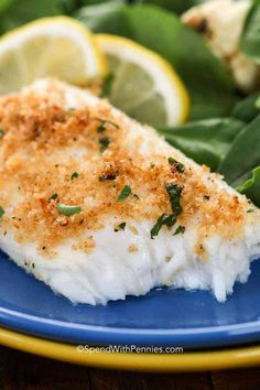 Easy Baked Tilapia (or Cod) - Spend With Pennies This easy baked tilapia recipe is flavored with fresh lemon and crowned with a delicious parmesan crust. Dinner will be on the table in just 15 minutes! Cooking Tilapia In Oven, Tilapia Recipe Oven, Fish Recipes Healthy Tilapia, How To Cook Tilapia, Oven Baked Tilapia, Easy Fish Recipes, Crusted Tilapia, Parmesan Crusted Cod, Oven Baked Cod