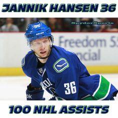 Jannik Hansen Reaches 100 NHL Assists   Spyder Sports Lounge