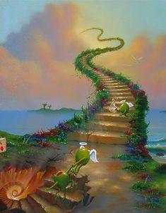 Oil Paintings of 4 Jim Warren heaven and hell jim part collaboration godard Fantasy Art for sale by Artists Fantasy Kunst, Fantasy Art, Helle Wallpaper, Jim Warren, Godard Art, Wall Prints, Poster Prints, Art Print, Agriculture Bio