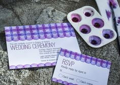 Grape Inspirations Watercolor Wedding Invitations for a vineyard wedding. - Wine Country Occasions, www.winecountryoccasions.com