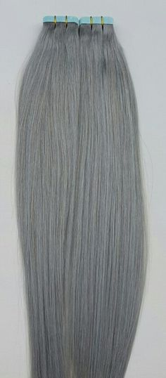 New Silver hair extensions!!! Dark silver, Sterling Silver and Ash Silver. These colors are available in Tape in hair, clip on hair, I tip, U tip and Halo Hair extensions. www.hairfauxyou.com