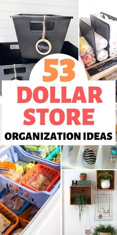 Check out these awesome ideas to keep your home organized using items from the dollar store. They are cheap and easy to DIY!