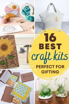 16 best craft kits for adults and teens. Learn a new hobby or DIY project. These craft kits are perfect as a gift too. These 16 amazing craft kits include all material and easy to follow instructions to learn and finish a new craft project. #craftkit #diy #craft Arts And Crafts Kits, New Crafts, Craft Kits, Creative Crafts, Easy Crafts, Craft Projects For Adults, Diy Home Decor Projects, Crafts For Kids, Do It Yourself Crafts